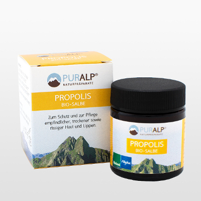 Propolis organic ointment against cracked skin and lips